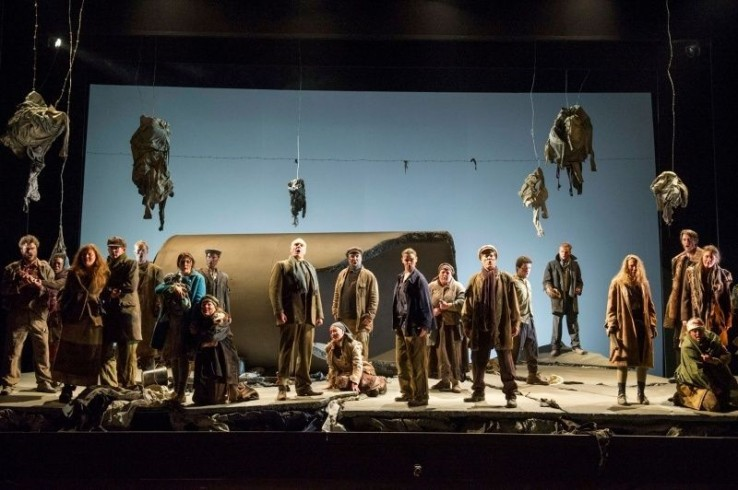 Siege of Calais theatre scenery