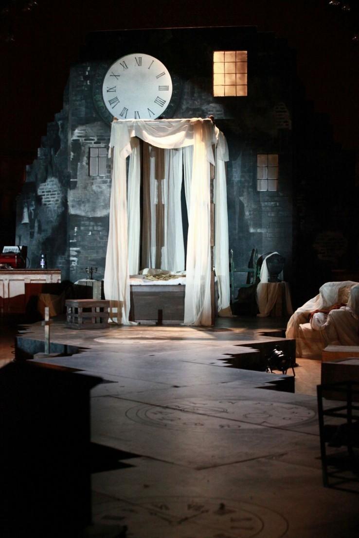 A Christmas Carol Theatre stage set